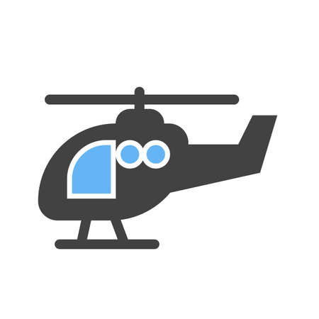 Helicopter transportation icon image.  Vector illustration isolated on white background.
