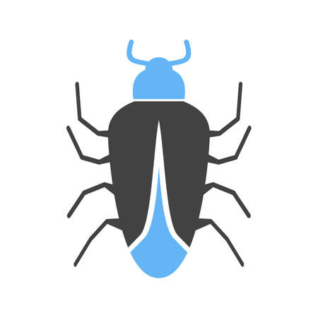 Bug Icon in blue head