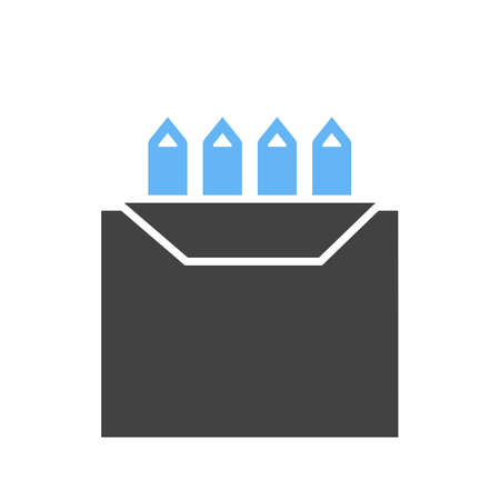 Colors box icon illustration on white background.  イラスト・ベクター素材