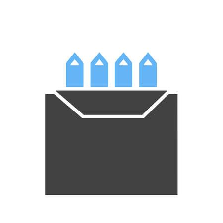 Colors box icon illustration on white background. Illustration