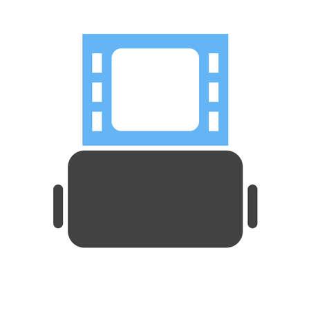 Rouleau d'icône d'illustration de film Banque d'images - 96764408