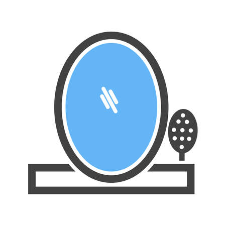 Brush and Mirror icon Vectores