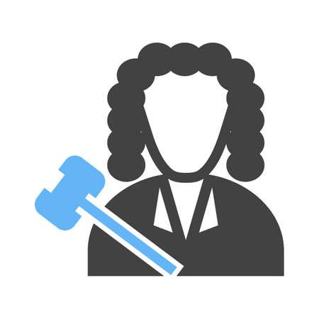 Judge icon illustration.