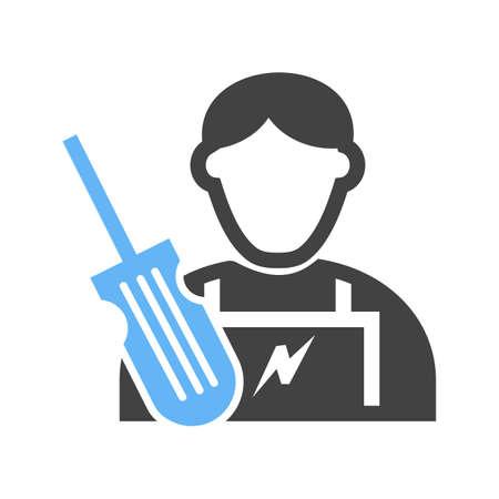 Electrician icon illustration. Vettoriali