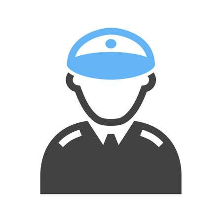 Militant icon illustration.