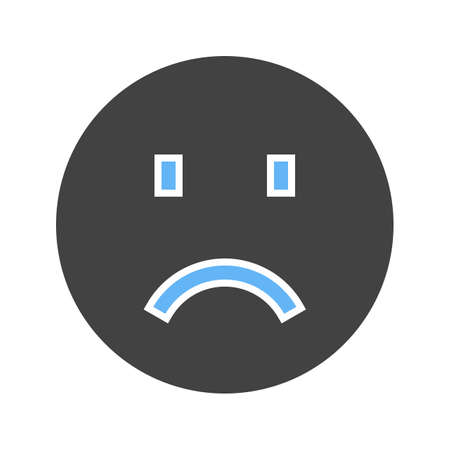 Sadness, sad face, upset icon vector image. Can also be used for emotions and smileys. Suitable for mobile apps, web apps and print media.