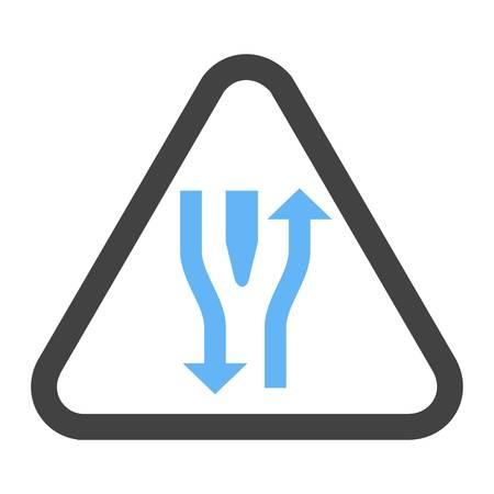 Double lane ahead icon