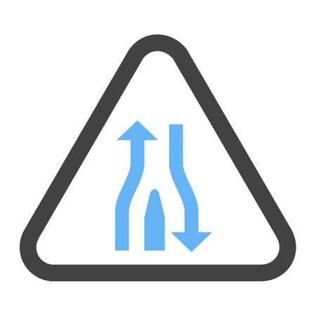 Single lane ahead icon Illustration