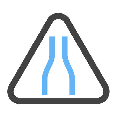 Sign, road, traffic icon vector image. Can also be used for traffic signs. Suitable for web apps, mobile apps and print media.  イラスト・ベクター素材