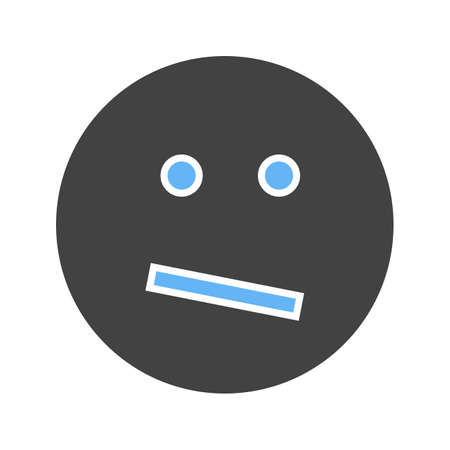 Confused, business, confusion icon vector image. Can also be used for emotions and smileys. Suitable for mobile apps, web apps and print media.