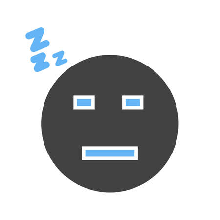Sleepy, tired, sleeping icon vector image. Can also be used for emotions and smileys. Suitable for mobile apps, web apps and print media. Stock Vector - 96699272