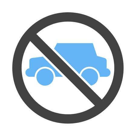No Parking Zone icon. Illustration