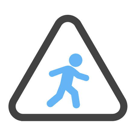 Pedestrian, road, sign icon vector image. Can also be used for traffic signs. Suitable for web apps, mobile apps and print media.