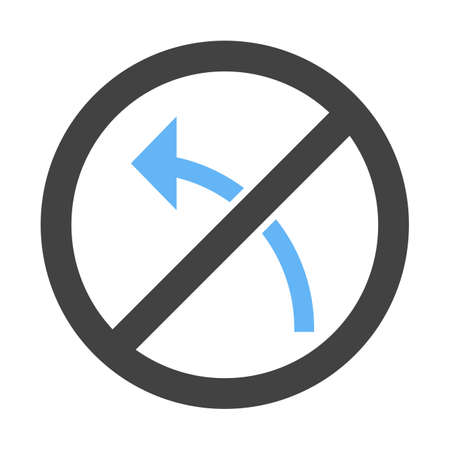 Sign, left, turn icon vector image. Can also be used for traffic signs. Suitable for web apps, mobile apps and print media. Illustration