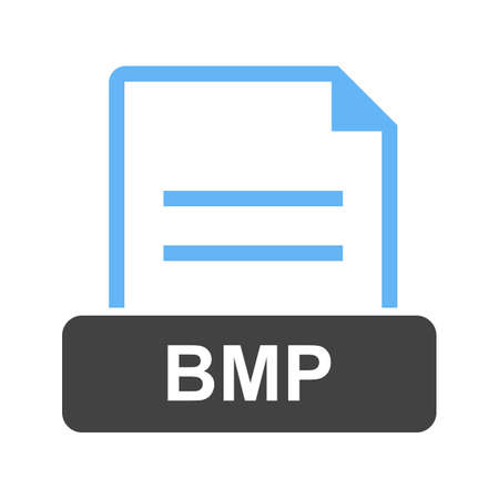 BMP, file, extension illustration on white background. Stock Vector - 97154070