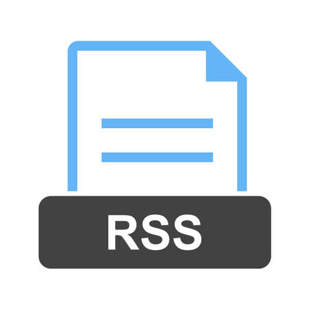 RSS, file, technology icon vector image. Can also be used for file format, design and storage.