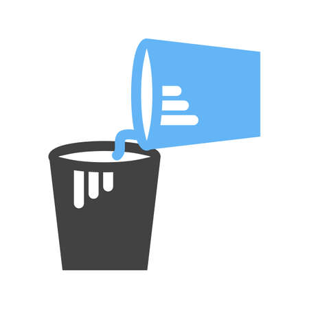 Paint Buckets Icon Vector illustration isolated on white background.