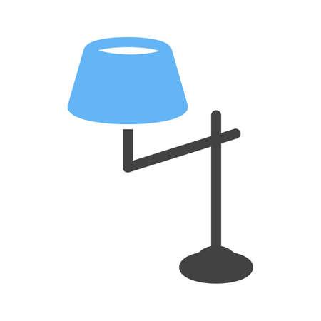 lampshade vector illustration isolated on white background. Illustration