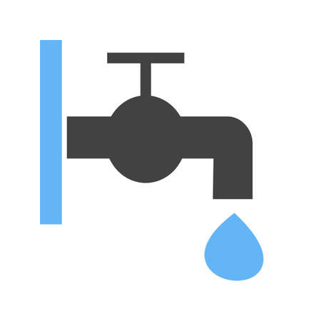 faucet and water drop image illustration Ilustrace