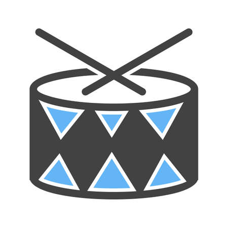 drums icon Vector illustration isolated on white background. 向量圖像