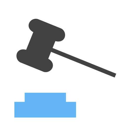 gavel icon Vector illustration isolated on white background.