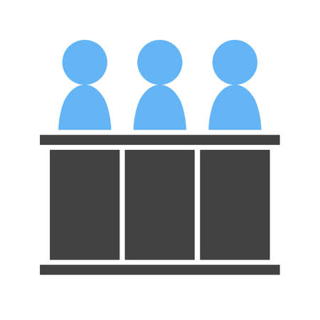 three person panel Vector illustration isolated on white background.