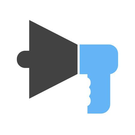 Loud speaker icon on white background, vector illustration.