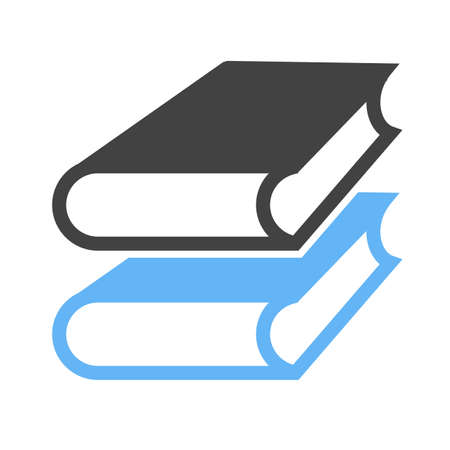 Books, library, education on white background, vector illustration. Çizim