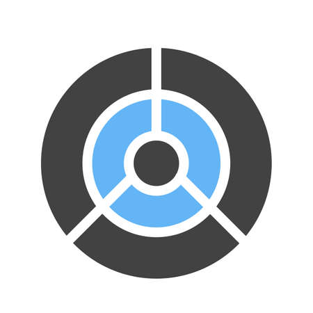 dartboard icon Vector illustration isolated on white background.