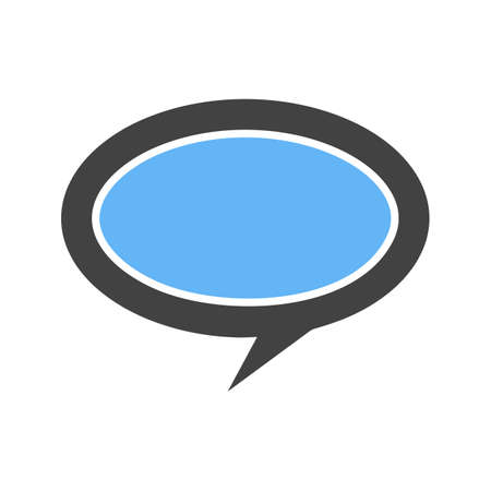 speech bubble icon Vector illustration isolated on white background.
