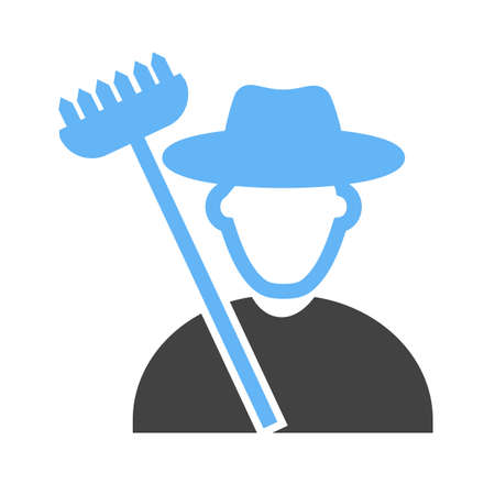 Farmer, agriculture icon vector image. Can also be used for activities. Suitable for use on web apps, mobile apps and print media. Çizim