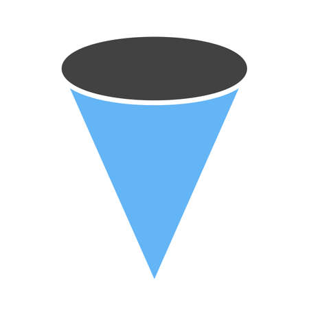 Geometry, cone, mathematics icon vector image. Can also be used for shapes and geometry. Suitable for use on web apps, mobile apps and print media.  イラスト・ベクター素材