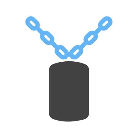 Militrary Chain Icon Ilustração