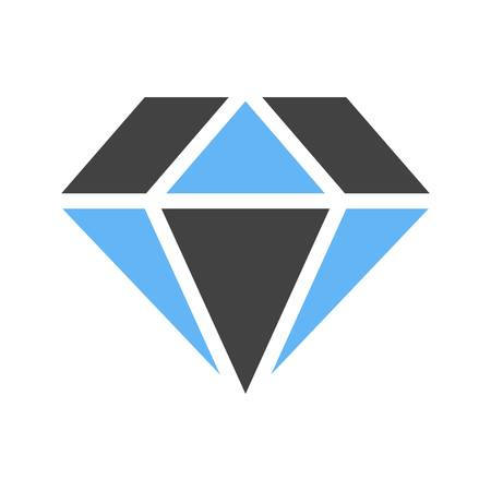 Diamond icon vector image. Suitable for use on web apps, mobile apps and print media.
