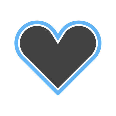 Heart icon vector image. Suitable for use on web apps, mobile apps and print media.