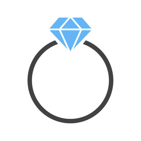 Diamond ring icon Illustration