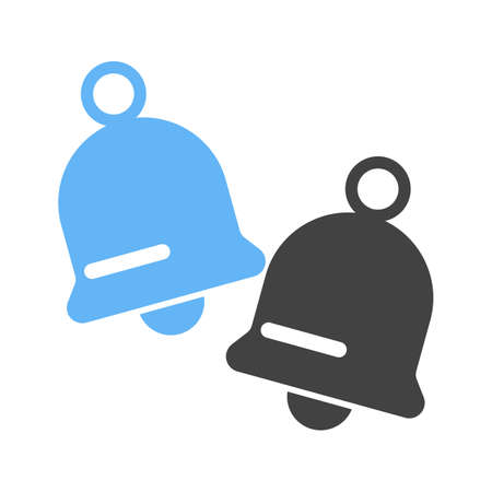 Black and blue bells icon