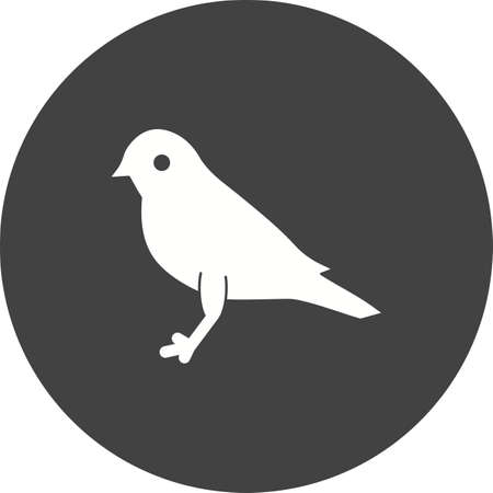 Bird, sound icon isolated on white background