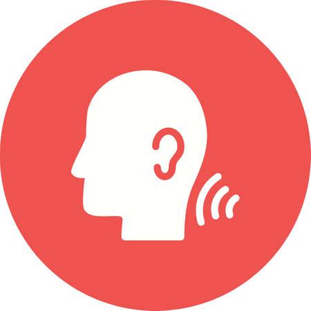 Las habilidades auditivas comprenden aislado sobre fondo blanco.