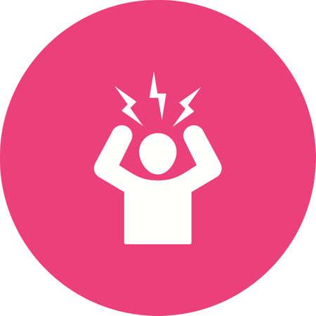Anger Management icon isolated on white background