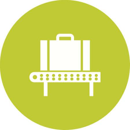 Checking Bag icon Illustration