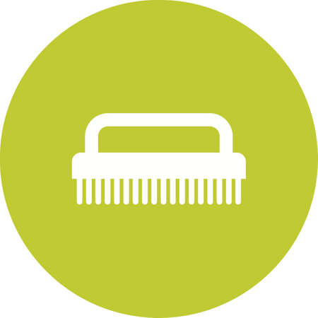 Hand Scrubber icon in green circle on white background.