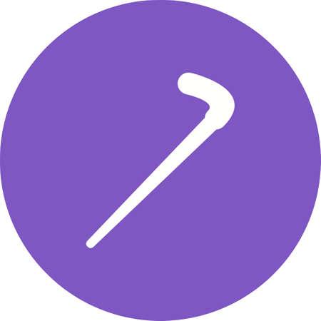 Walking, stick, cane Stock Illustratie