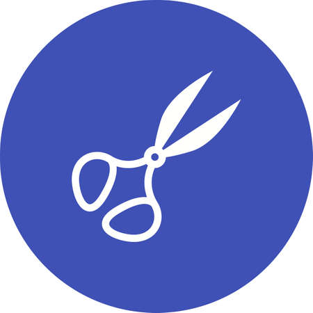 Scissors, pair, cloth icon vector image. Can also be used for Sewing. Suitable for mobile apps, web apps and print media.  イラスト・ベクター素材
