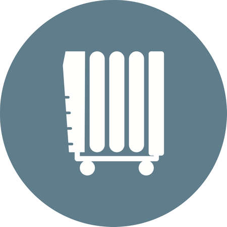 Oil Heater icon Illustration