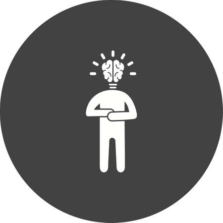 Fast Learner icon in black circle on white background. Illusztráció