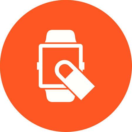 Swipe Finger of smartwatch concept icon