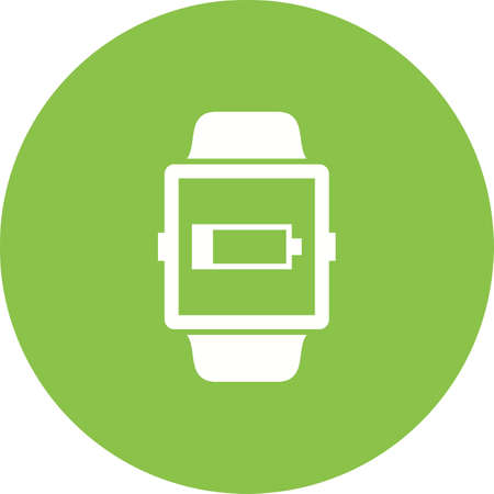 Low Battery Sign on smartwatch concept icon