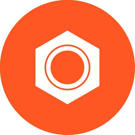 Nut icon vector illustration