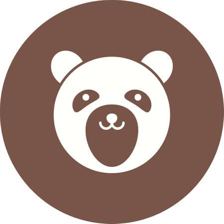 Bear face icon image illustration